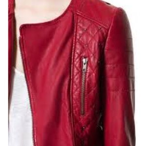 Zara Quilted %100 Leather Jacket